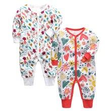 Пижама для младенцев детская пижама Одежда для новорожденных хлопок на возраст 3, 6, 9, 12, 18, 24 месяцев, комбинезон-Пижама для младенцев