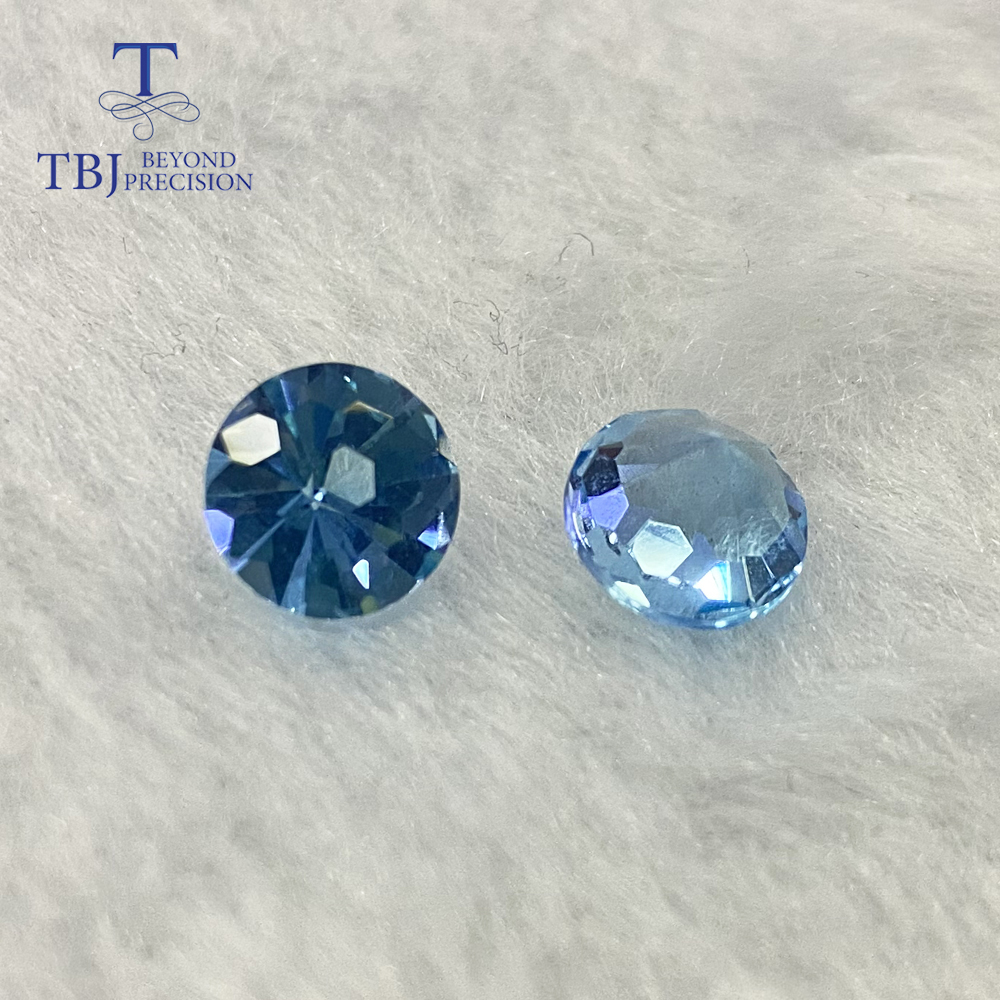 Natural sky blue topaz round 8mm Fooball cuting for silver jewelry mounting natural sky topaz loose gemstones TBJ recommend