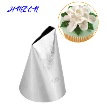 New 128# Drop Flower Piping Tip Cream Nozzle Decor Tip Icing Nozzle Cake Fondant Pastry Baking Decorating Tools 47 basket weave piping nozzle small size basketweave decorating tip nozzle baking tools for cakes bakeware icing tip