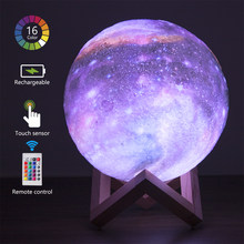3d Led Galaxy Moon Wall Table Lamp Night Lights Indoor Lighting Cute Room Decor bedside lamp for bedroom Children's Night Light