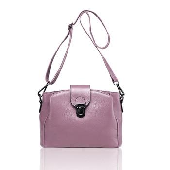 2019 New High Quality Genuine Leather Bag Women's Lychee Pattern Single Shoulder Bag Crossbody Bags In Women's Bucket Designer
