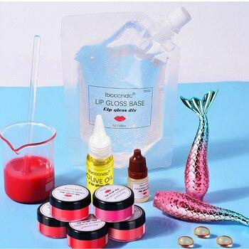 DIY wyczyść błyszczyk zestaw żel bazowy nawilżający szminka materiał żel dla DIY błyszczyk Making Kit Handmade szminka w płynie makijaż