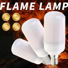 E27 Flame LED Lamp Fire Bulb 5W E26 Dynamic Effect Light E14 Flickering Emulation Burning Creative Decoration