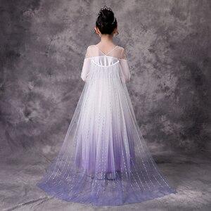Fro zen Elsa Dress For Girls Children Birthday Party Dresses(China)