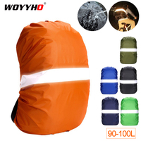 Reflective Backpack Rain Cover 90L 95L 100L Waterproof Bag Cover For Backpack Outdoor Camping Hiking Travel Backpack Raincover