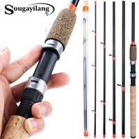 Sougayilang 3m alimentador haste l m h potência vara de pesca ultraleve peso 6 seção carbono spinning viagem vara pesca equipamento pesca