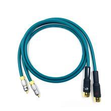 HiFi Cardas Rca Hifi RCA to XLR Cable  3 Pin 2 XLR Male to 2RCA Audio Cable 0.75m 1m 1.5m 2m 3m