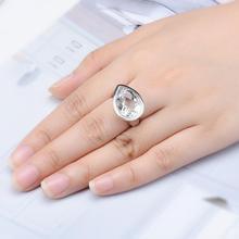 LP Роскошные 10,46 карат белый топаз 16*12 мм S925 серебро обручальное кольцо для девушки подарок Ювелирная коробка