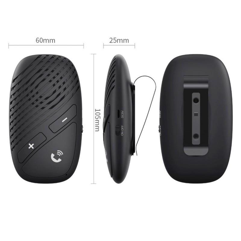 Gran oferta Bluetooth 5,0 Car transmisor receptor reproductor de música manos libres llamada adaptador inalámbrico - 5