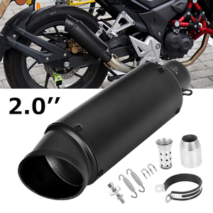 51mm motorcycle pipe exhaust with DB killer Motorcycle for SC Exhaust Pipe Muffler for GP project Carbon Fiber Exhaust Pipe(China)