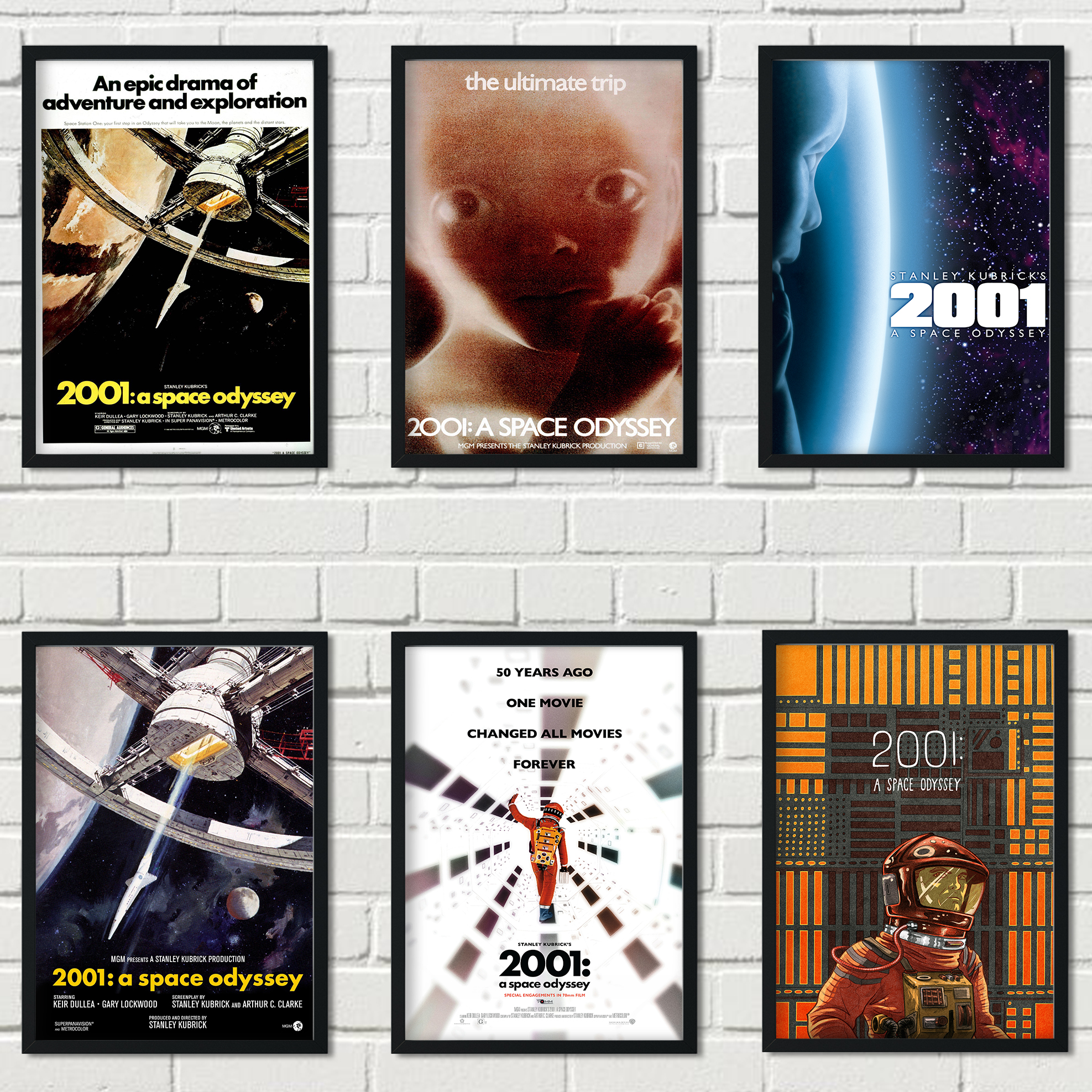 Oscar-winning film science fiction adventure movie 2001: A Space Odyssey family wall art decoration painting poster o213 image