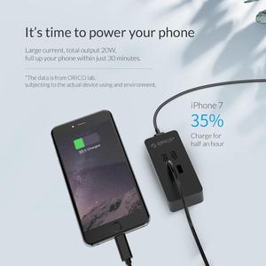 Image 3 - オリコ 4 ポート USB 充電器ミニスマート充電ドックステーション 5V2 。 4A * 4 最大出力 20 ワットのデスクトップの充電器電話パッド充電