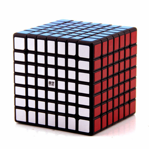 Image 2 - Qiyi Mofangge QiXing Cubo de magia negra sin pegatinas, Cubo de 7x7x7, rompecabezas de 7 capas, juguetes educativos profesionales para niños, regalo