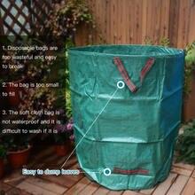Многоразовые садовые мешки для мусора прочные листьев с ручками