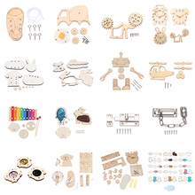 DIY Busy Board Toys Baby Montessori Sensory Activity Board Accessories Fine Motor Skill Latch Lock Cognition Toy Games