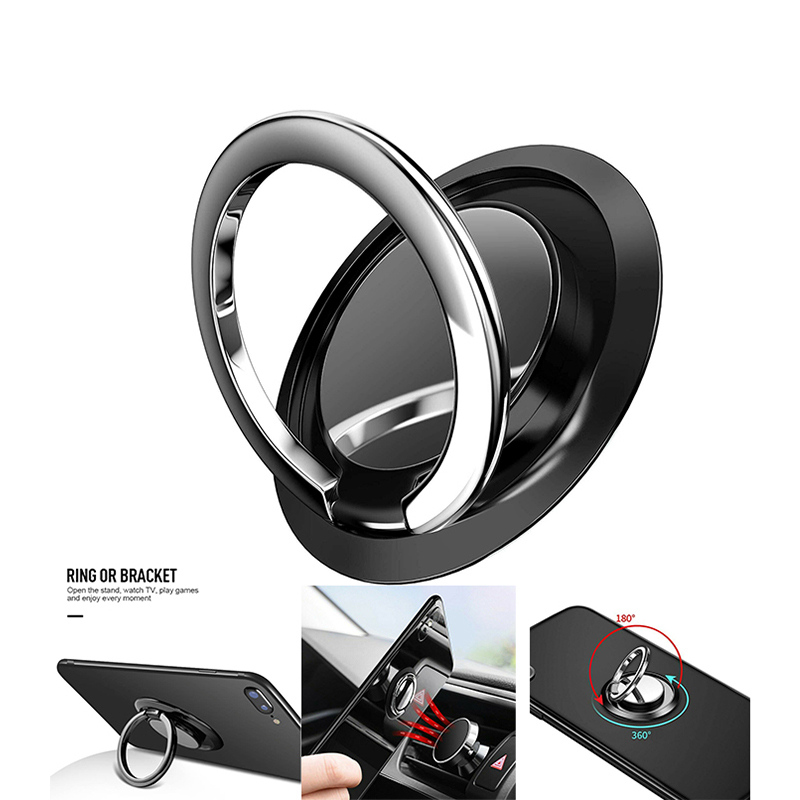 Ultipurpose Mobile Phone Holder  360°Finger Ring Cell Phone Holder Stand Magnetic Car Metal Grip Phone Holder Bracket