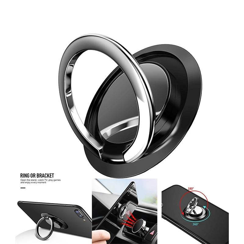 Ultipurpose Mobile Phone Holder  360°Finger Ring Cell Phone Holder Stand Magnetic Car Metal Grip Phone Holder Bracket