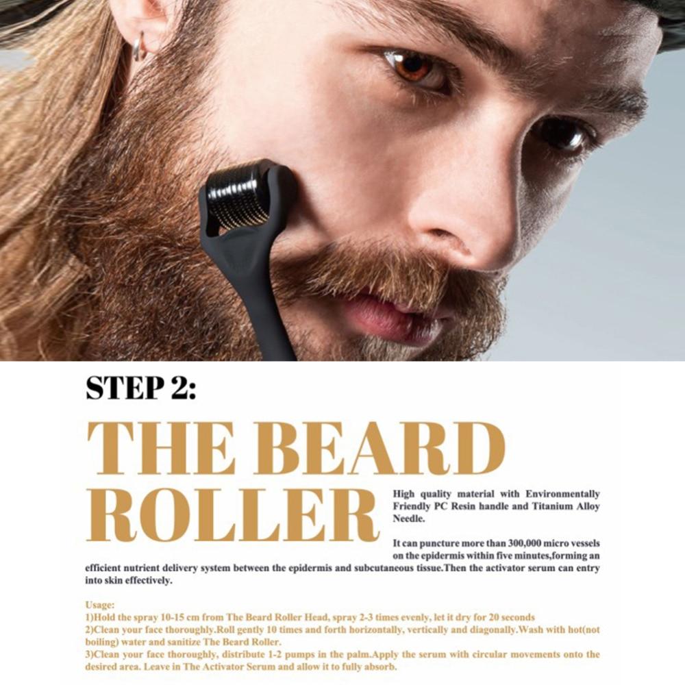 4 Pcs/set Barbe Beard Growth Kit Hair Growth Enhancer Beard Care with Comb