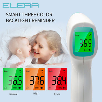 ELERA New Thermometer Infrared Digital IR LCD Baby Forehead and Ear Non-Contact Adult Body Fever Care Measurement Termometro
