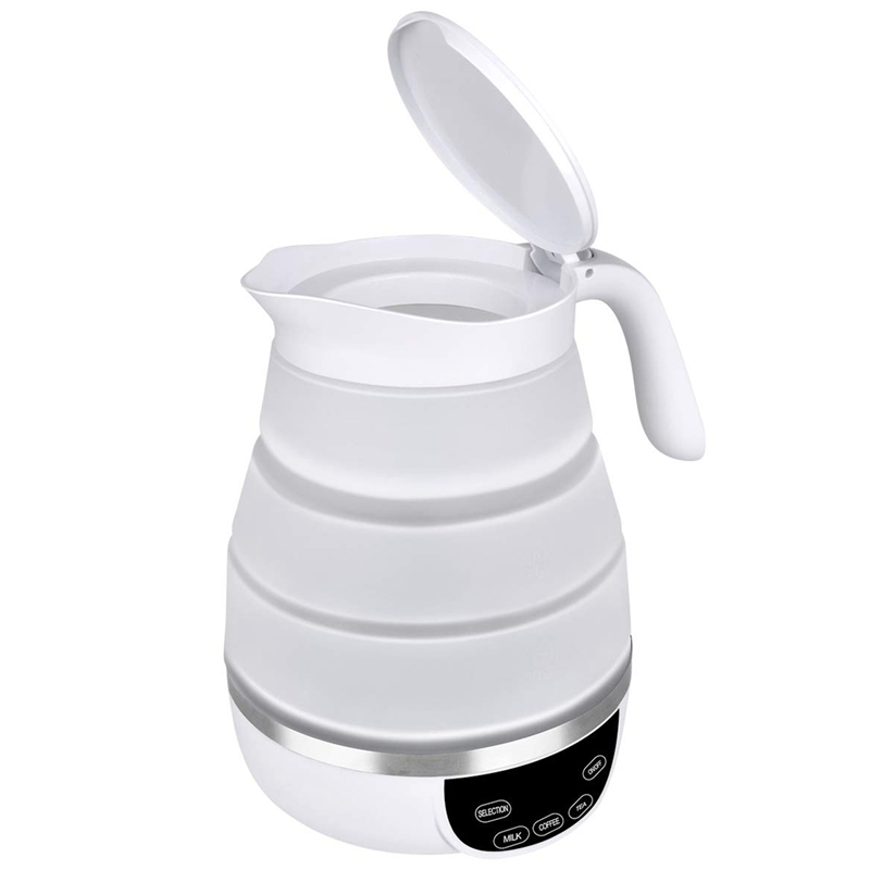 Foldable Travel Electric Kettle, Collapsible Electric Kettle, Dual Voltage Auto Shift ,Temper Control Portable Travel Kettle, Sm