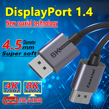 Coaxial DisplayPort 1.4 Cable Supports PS5/Xbox Game Console Laptop Connection 8k Monitor For Video TV Projector DP 1.4 Cable