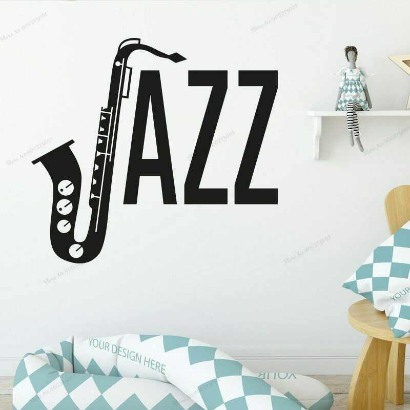 Saxophone Wall Sticker Jazz Music Wall Decal Kids Bedroom School Home Decor FW