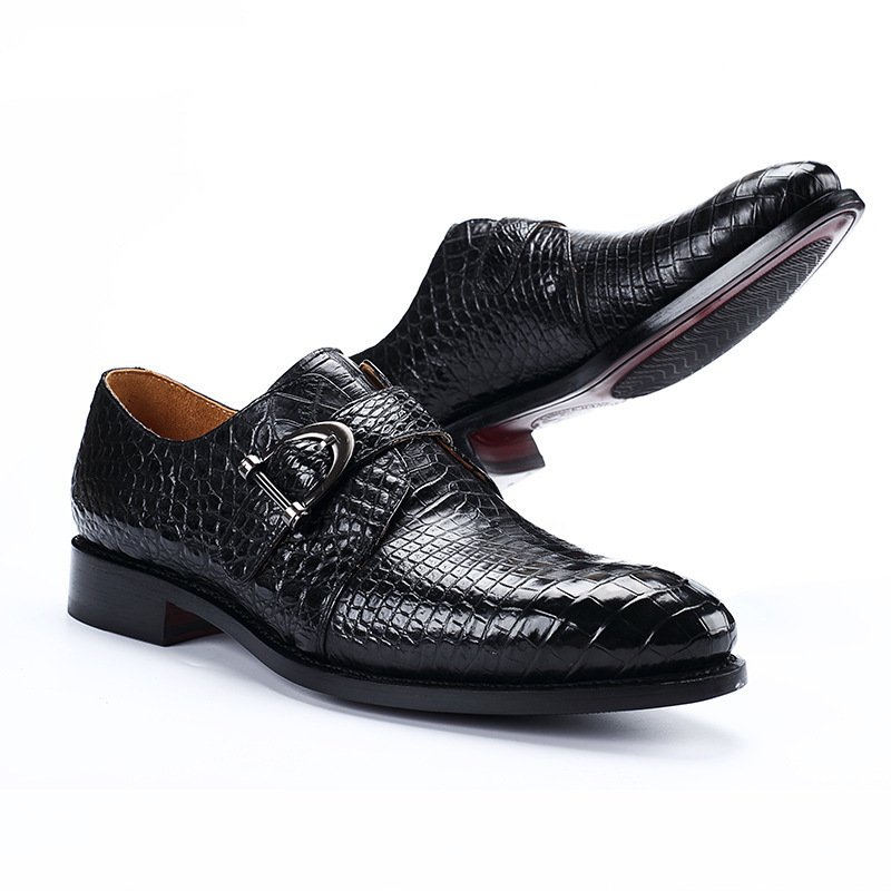 Dress-Shoes Chaussure Formal-Wear Business Classic Crocodile Leather Mens New Homme Luxe