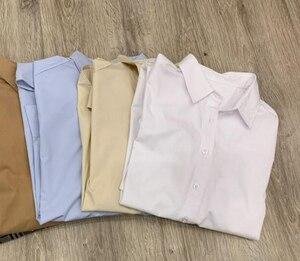 Image 4 - נשים חולצה אביב קיץ פשוט חולצה חדש החבר סגנון קלאסי צללית מוצק חולצות