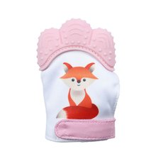 BalleenShiny Baby Teether Gloves Safe Silicone Teething Mitts Infant Dental Care