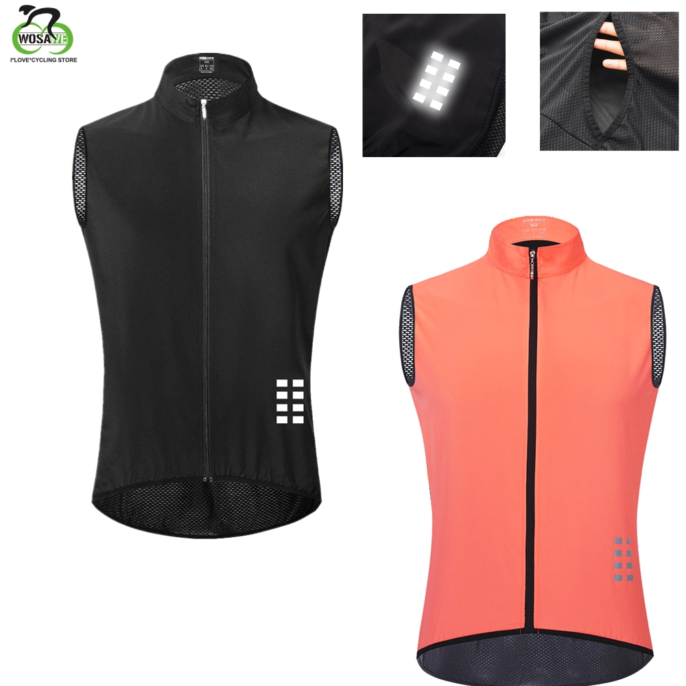 WOSAWE Summer Quick Dry Sleeveless Cycling Bike Vest Lightweight Mesh Fabric MTB Clothing Road Bicycle Breathable Running Jacket