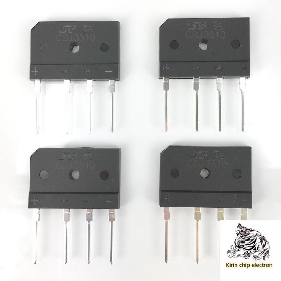 10pcs / Lot Professional Power Amplifier Large Current Rectifier Bridge Flat Bridge Sep Gbj3510 Flat Bridge 35a1000v
