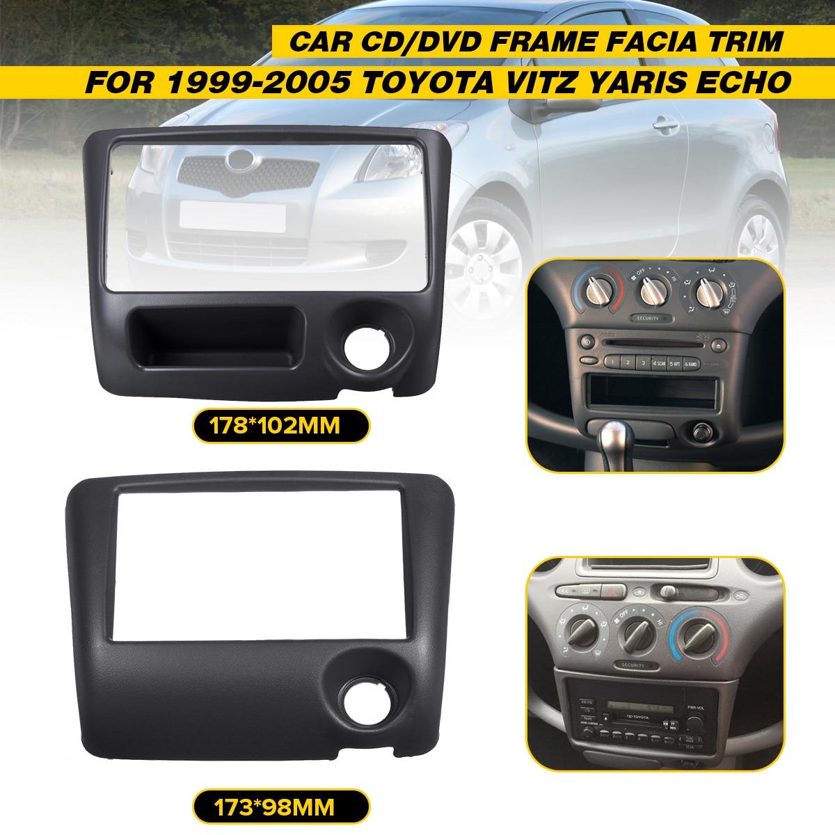2 DIN Car Radio Facia for Toyota Yaris for Echo Vitz 1999 2000 2005 DVD Stereo CD Panel Dash Kit Trim Fascia Face Plate Console|Fascias| |  - title=