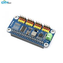 Waveshare servo driver hat compatível com raspberry pi zero/zero wh/2b/3b/3b + 16 channel 12 bit i2c interface