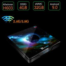 H10 Pro H603 Quad-core Android TV Box 9.0 Smart TV Bluetooth Set Top Box 2G+16G 2.4G/5G Double Wifi 6K H.265 Media player