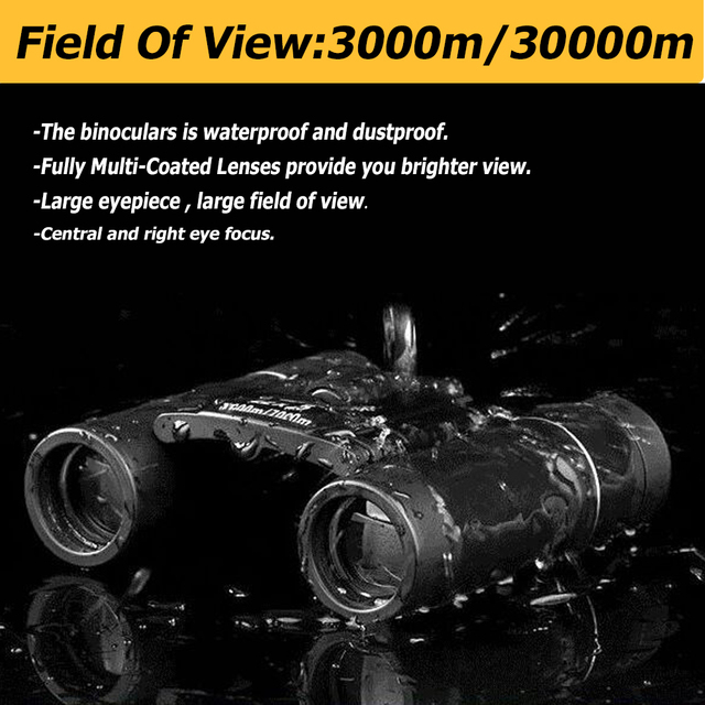 100X22 Professional Binoculars 30000M High Power HD Portable Hunting Optical Telescope BAK4 Night Vision Binocular For Camping 4
