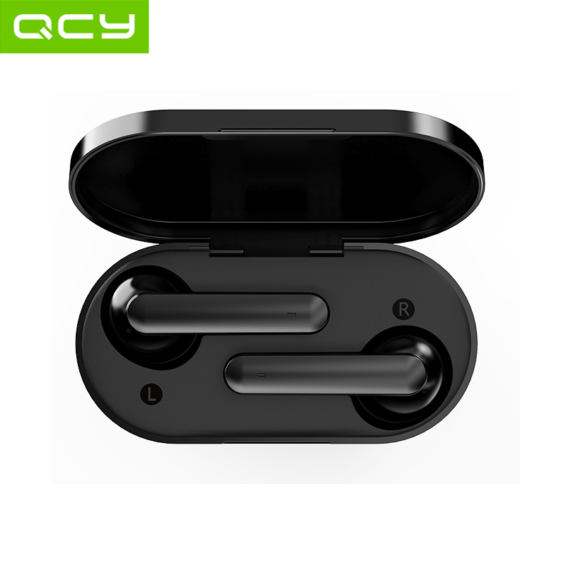 QCY T3 Bluetooth 5 0 Wireless Headphones 3D Stereo Dual-Mic IPX5 Waterproof Earphones