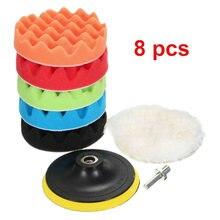 Набор полировальных насадок 8 шт 3 дюйма комплект губки для