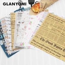 Rolo de papel para embrulho de alimentos, 25 pçs/lote cera de papel graxa de graxa alimentar para envoltório de pão, sanduíche, batatas, rolo de papel, ferramentas de cozimento