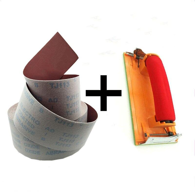 1 Meter 60-800 Grit Emery Cloth Roll Sandpaper & Handheld Sandpaper Frame Dremel 60/80/100/120/150/180/240/320/400/600/800