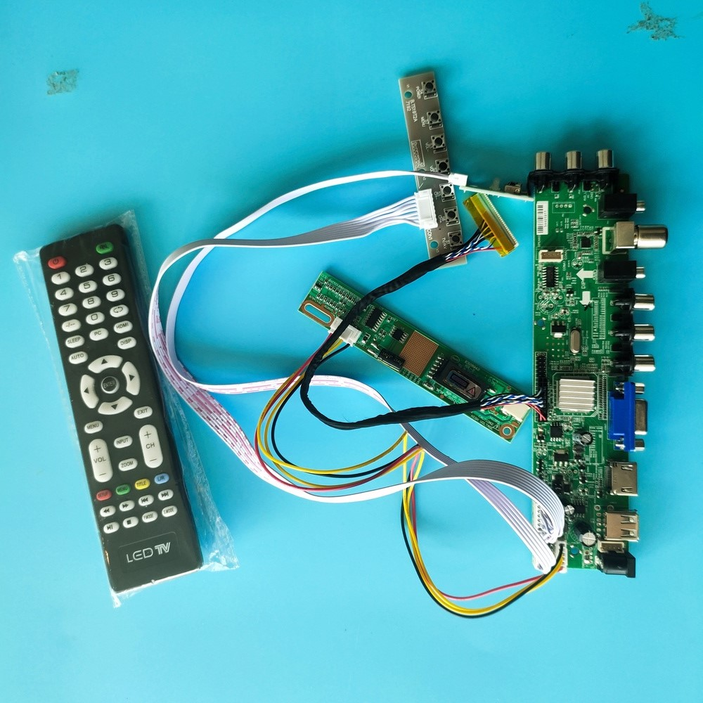 Kit For LP150X05-B2/LP150X05-<font><b>C2</b></font> TV VGA USB remote Digital HDMI Panel 1024X768 Controller board 1 CCFL LCD <font><b>DVB</b></font>-T2 <font><b>DVB</b></font>-T 30pin 15