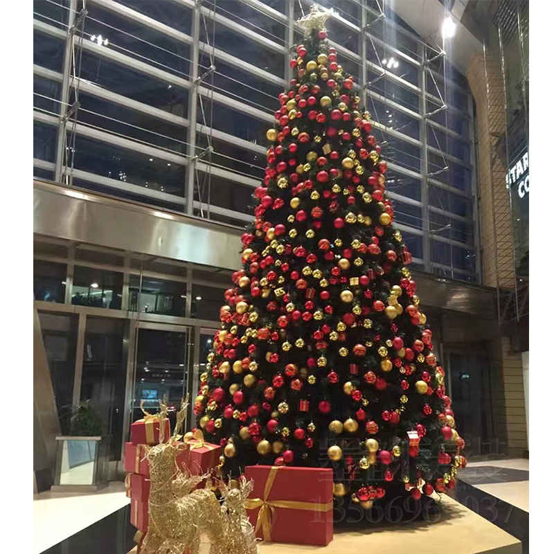 Large Christmas Tree 4-20m Christmas Tree Package Hotel Decoration Outdoor Frame Christmas Tree With Decorative Accessories