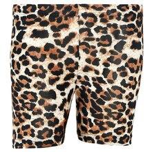 Zecmos Leopard Shorts Women's Fashion Base Shorts Fitness Shorts Women's Casual Skinny Stretch Shorts