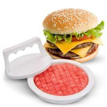 1pcs Hamburger Press Round Shape Food-Grade Plastic Hamburger Meat Beef Grill Burger Press Patty Maker Mold Mould Kitchen Tool