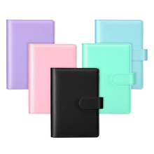 5 Pcs A6 PU Notebook Binder Refillable 6 Rings Binder Cover Loose Leaf Personal Planner with Buckle Closure