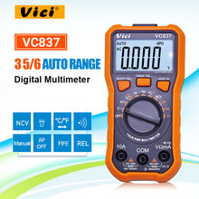 VICI VC837 True RMS 3 5/6 Digital Multimeter Auto Range Kapazität Widerstand NCV Temperatur Fequency Diode hFE Test