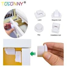 TUSUNNY 8+ 2/4+ 1 шт., магнитный замок для детей, безопасный замок для детей, защита для детей, замок для двери шкафа, детский ящик для шкафчика, невидимые замки для безопасности