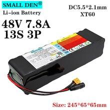Batteria al litio 48V 7.8A 18650 13S3P 7800mAh BMS ad alta corrente 20A incorporato per kit di sostituzione batteria elettrica