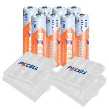8 sztuk PKCELL AAA 900mWh bateria 1.6V NIZN akumulatory aaa ni zn ładowanie z 2PC AAA/etui na baterie AA/BOX na zabawki
