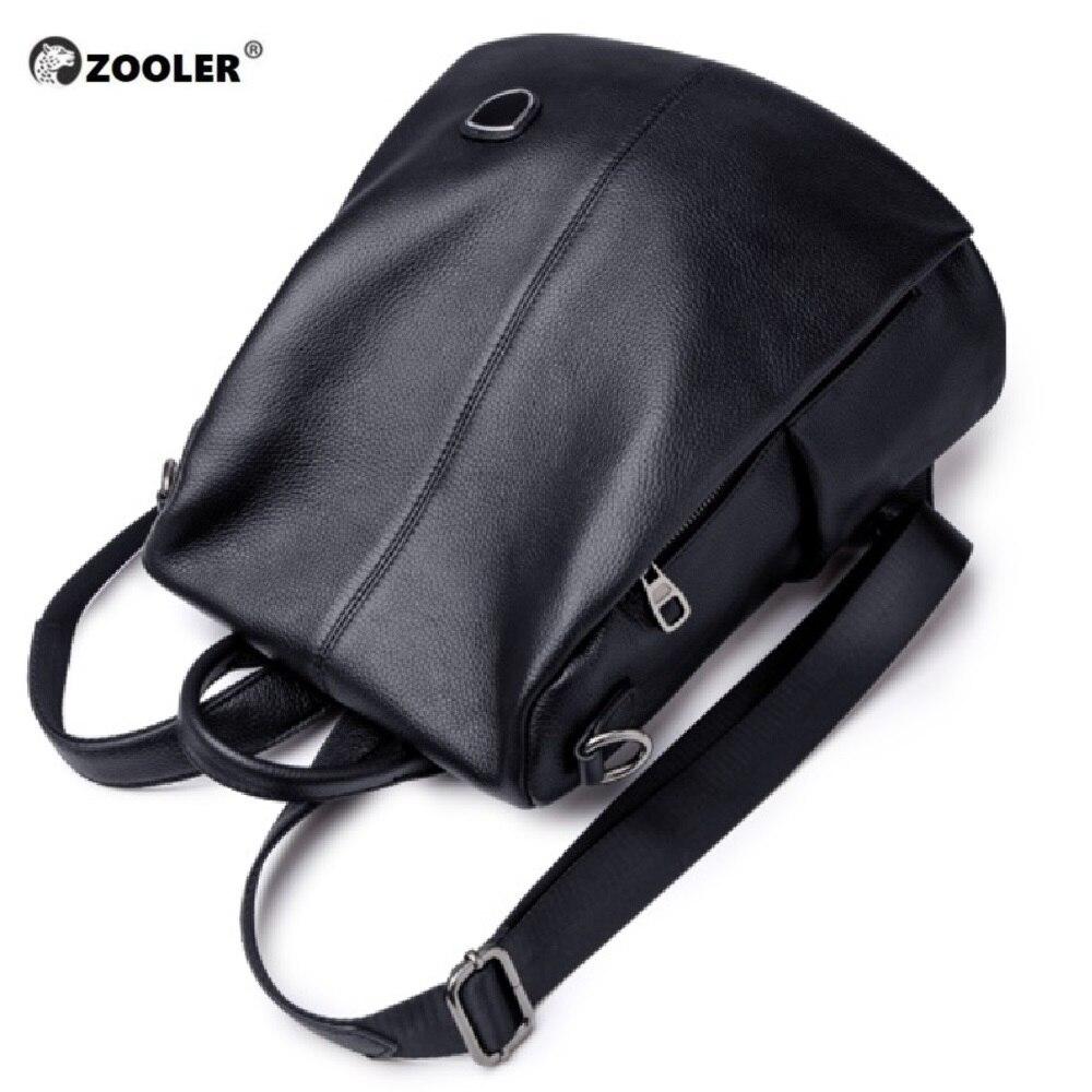 Mochila De mujer de ZOOLER de cuero genuino de moda casual bolsas de piel de vaca de calidad bolso de hombro de mujer mochilas para niñas de alta calidad-in Mochilas from Maletas y bolsas    1