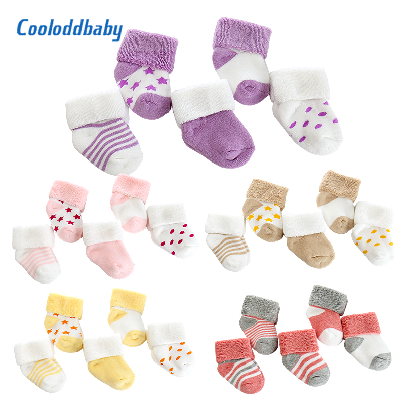 5 Pairs/lot Baby Socks Warm Cute Newborn Baby Girl Socks Cartoon Comfort Cotton Thicken Winter Baby Boy Socks Clothes